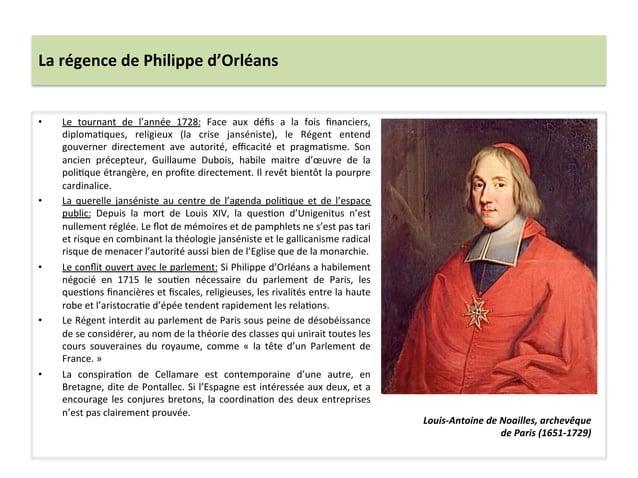 La régence de Philippe d'Orléans • Le  tournant  de  l'année  1728:  Face  aux  défis  a  la ...