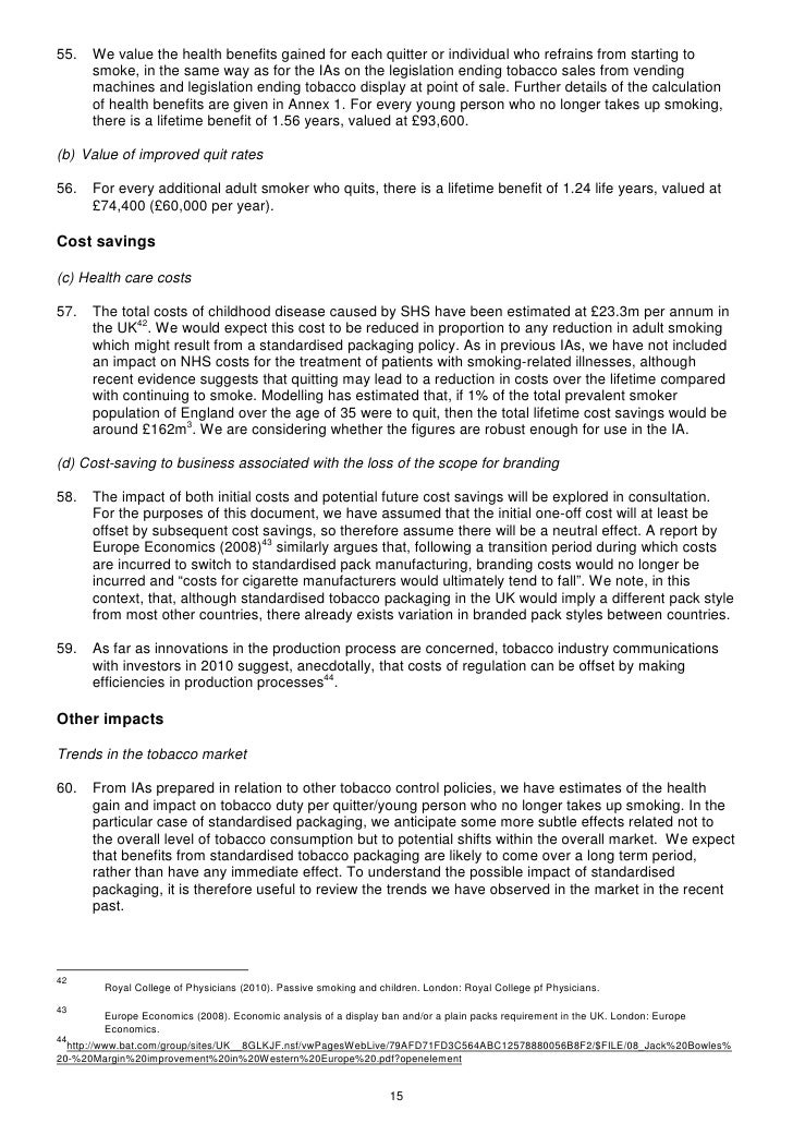 impact of plain packaging on smoking intention pdf
