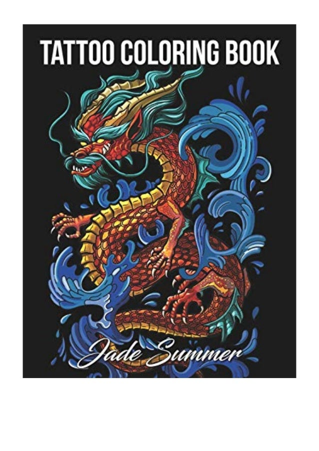 - Tattoo Coloring Book PDF - Jade Summer An Adult Coloring Book With Aw…