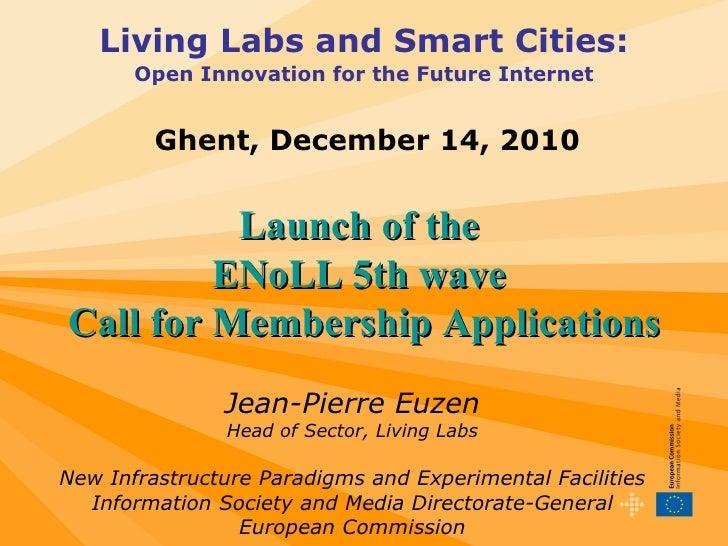 Jean-Pierre Euzen - New Infrastructure Paradigms and Experimental Facilities