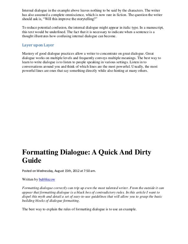Write dialogue format format 17204 how to write dialogue that works ccuart Gallery
