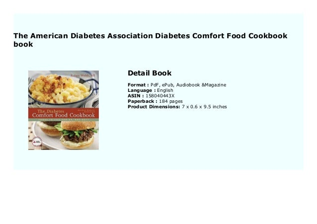 The American Diabetes Association Diabetes Comfort Food Cookbook book 8439 Slide 2
