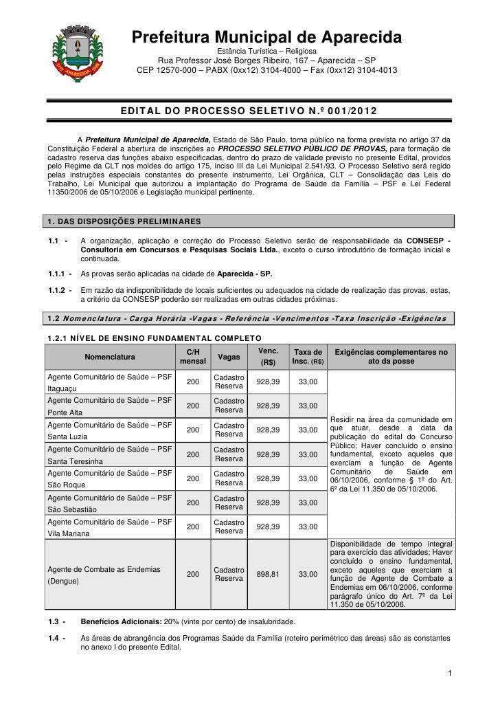 Prefeitura Municipal de Aparecida                                                  Estância Turística – Religiosa         ...