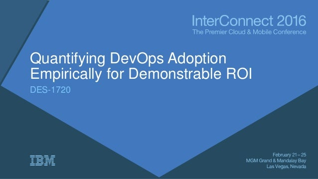 Quantifying DevOps Adoption Empirically for Demonstrable ROI DES-1720