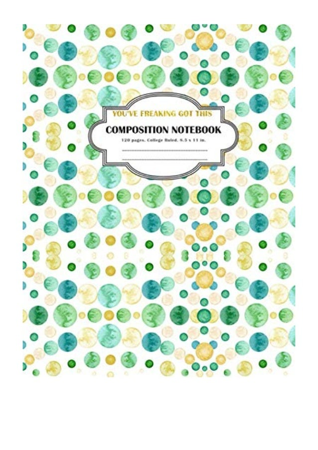 Composition Notebook You Ve Freaking Got This Pdf Simple