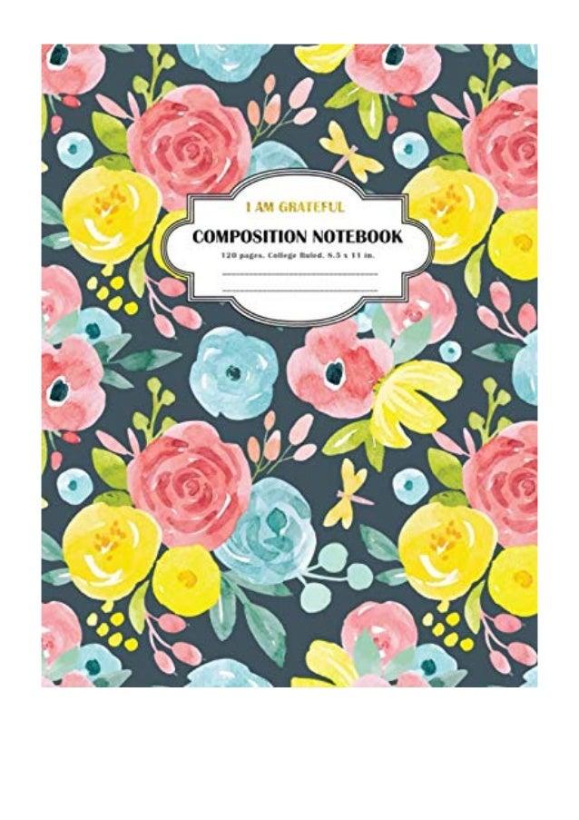 Composition Notebook I Am Grateful Pdf Simple Print Press