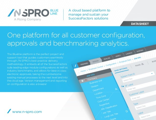 DATASHEET One platform for all customer configuration, approvals and benchmarking analytics. A cloud based platform to mana...