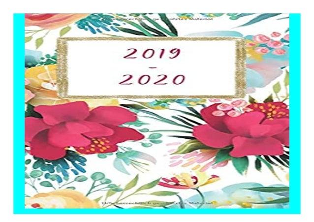 Mein Planer amp Organizer 2019-2020 Jahresplaner Terminplaner Taschenkalender f�r berufst�tige Frauen inkl. Habit Tracker ...