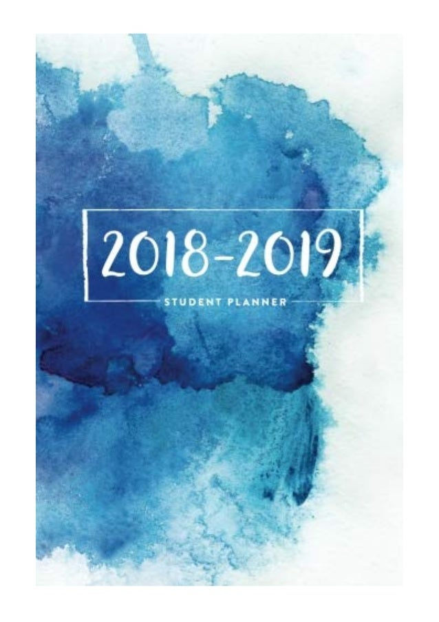 "2018 - 2019 Student Planner PDF - Daily Journal 6""x9"