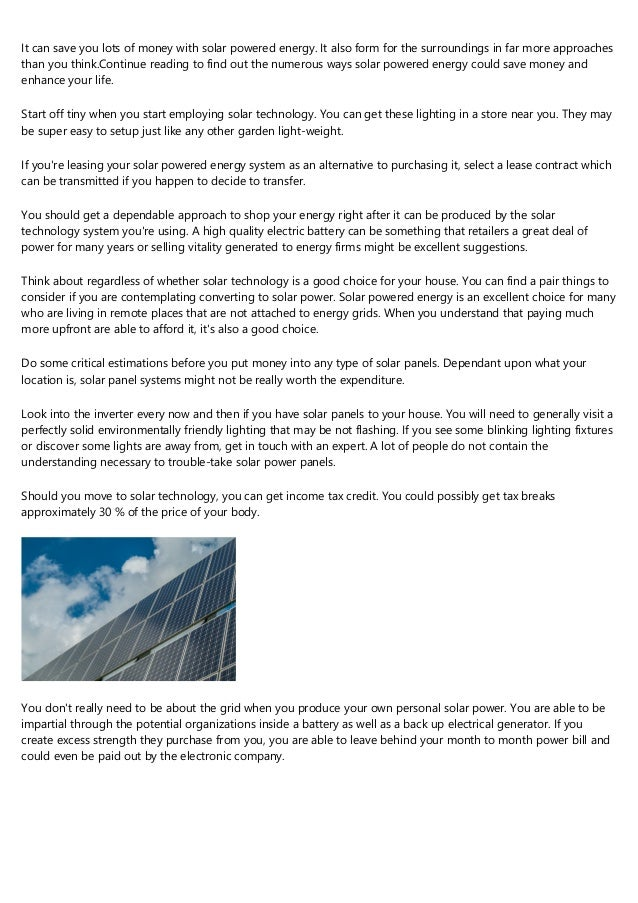 Can Be Your Home Proper To Create A Solar Powered Energy Method?