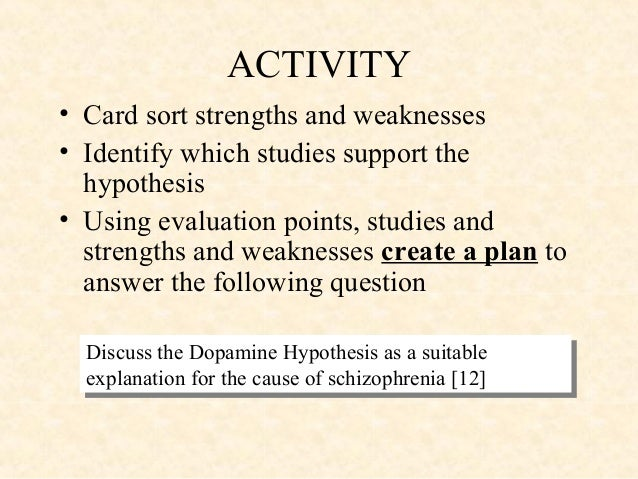 critique of the dopamine hypothesis of Start studying the dopamine hypothesis & evaluation learn vocabulary, terms, and more with flashcards, games, and other study tools.