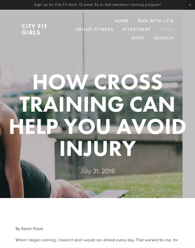 How Cross Training Can Help You Avoid Injury — City Fit Girls