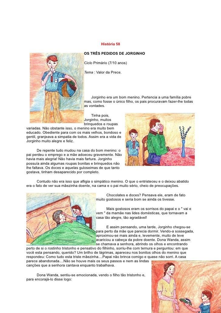 História 58                                     OS TRÊS PEDIDOS DE JORGINHO                                     Ciclo Prim...