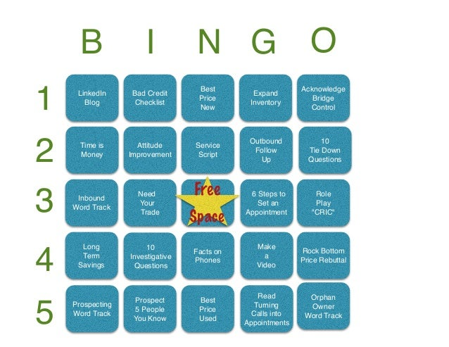 January BINGO Contest for Direct Sales Teams