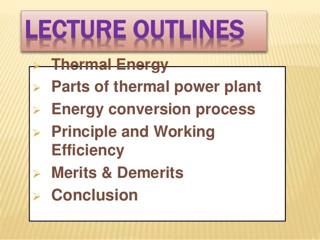 POWER GENERATION OF THERMAL POWER PLANT Slide 2