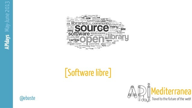 From open source to APIs Slide 2