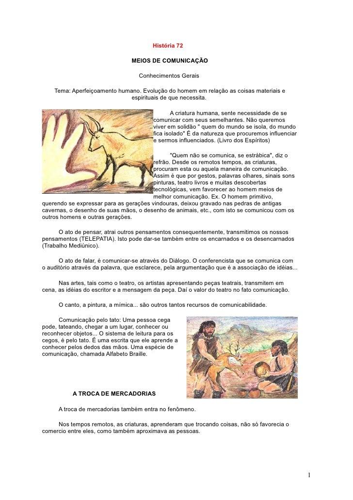 História 72                                   MEIOS DE COMUNICAÇÃO                                      Conhecimentos Gera...