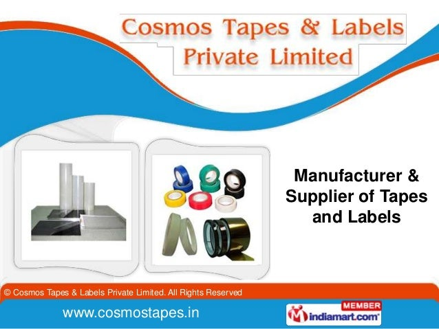 Manufacturer &                                                               Supplier of Tapes                            ...