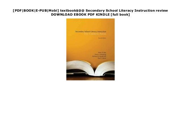 [PDF|BOOK|E-PUB|Mobi] textbook$@@ Secondary School Literacy Instruction review DOWNLOAD EBOOK PDF KINDLE [full book]