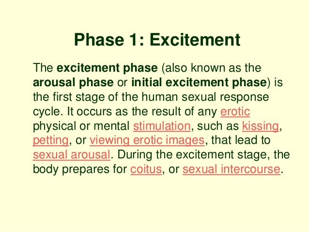 Signs of sexual arousal