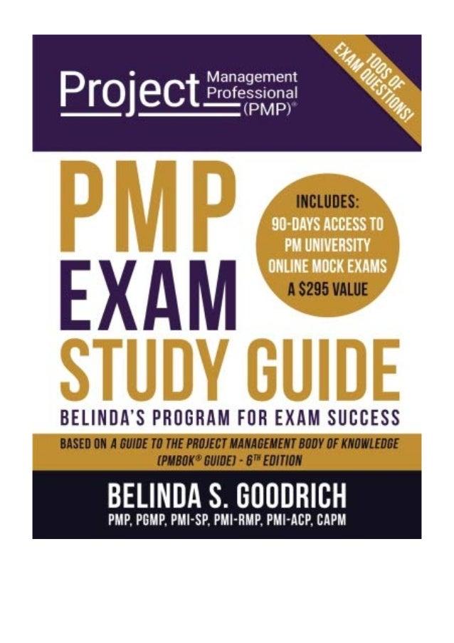 Pmp Exam Study Guide Pdf Belinda S Goodrich Belindas Program For E