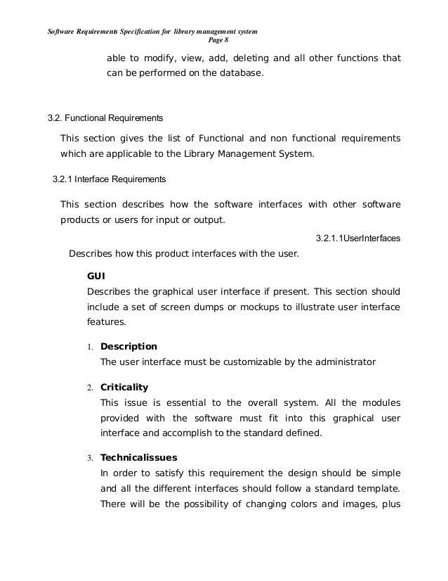 library management system description
