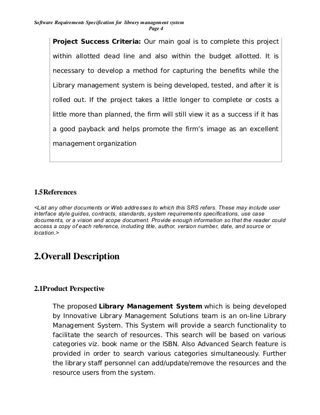 library management system project proposal Library management system: design and implementation this report describes our group's implementation of a library management system a.