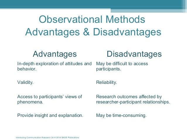 examine participant observation advantages and disadvantages