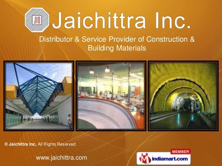 Distributor & Service Provider of Construction & <br />Building Materials<br />