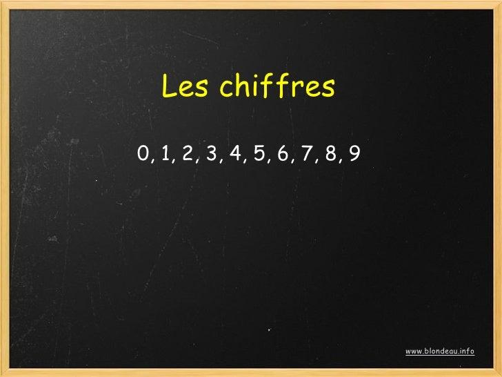 Les chiffres  0, 1, 2, 3, 4, 5, 6, 7, 8, 9                                    www.blondeau.info