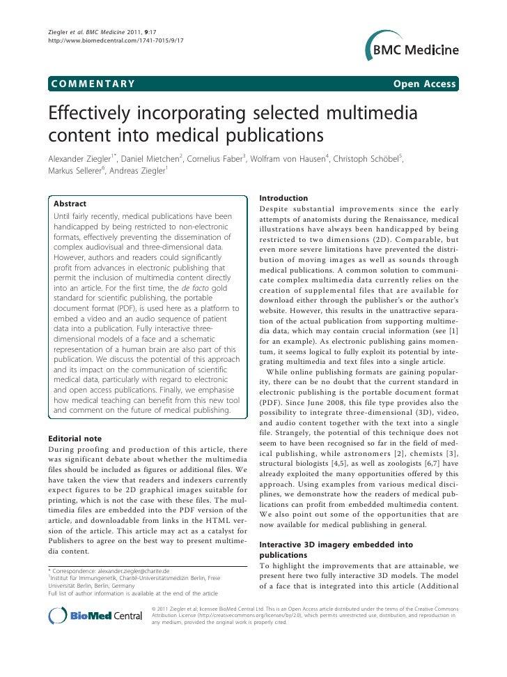 Ziegler et al. BMC Medicine 2011, 9:17http://www.biomedcentral.com/1741-7015/9/17 COMMENTARY                              ...