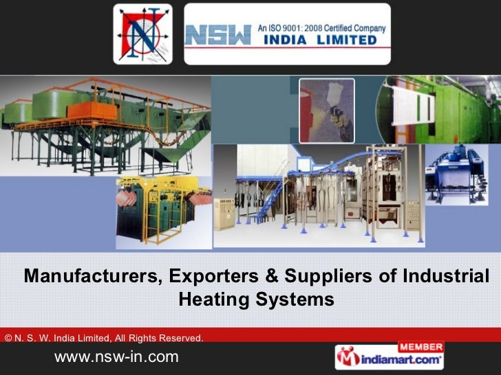 Manufacturers, Exporters & Suppliers of Industrial Heating Systems