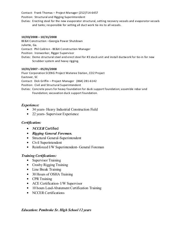 iron worker resume samples iron worker resume examples