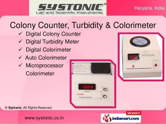 Haryana, India   Colony Counter, Turbidity & Colorimeter            Digital Colony Counter            Digital Turbidity ...