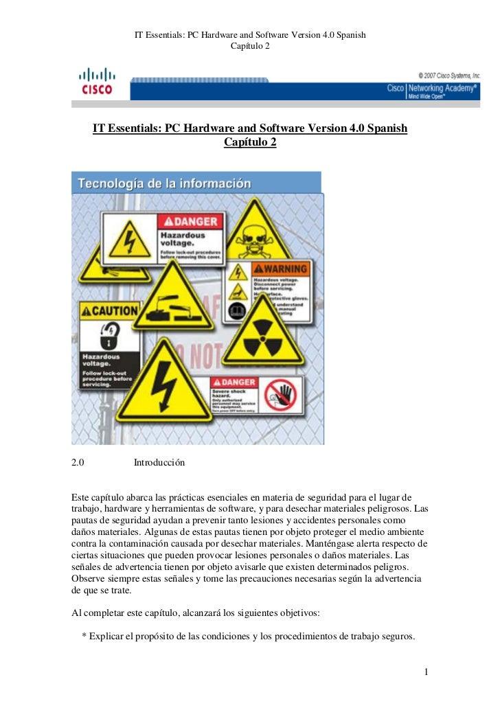 IT Essentials: PC Hardware and Software Version 4.0 Spanish                                       Capítulo 2      IT Essen...