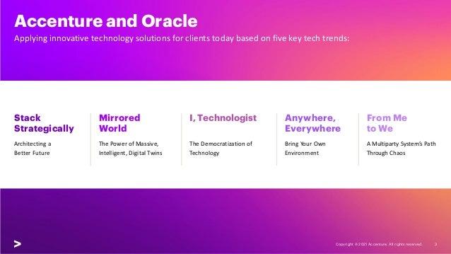 Oracle Technology Vision 2021 Slide 3