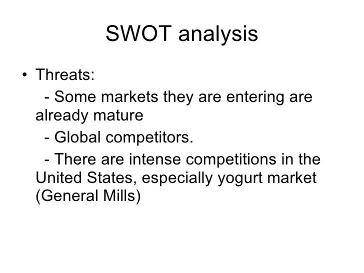 united cereal swot Swot analysis strengths france the healthy cereal market does not have much competition in france united cereal should create the euroteams that brill mentions.