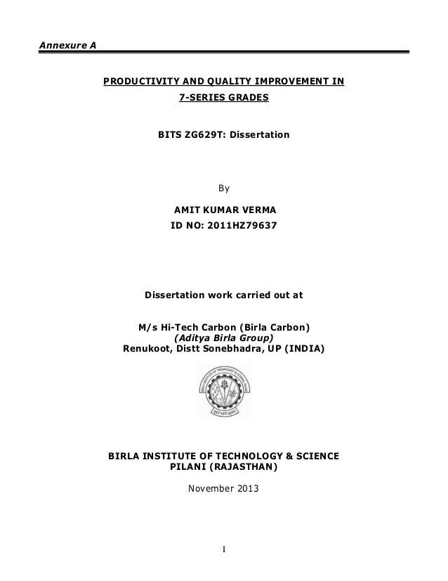 bits zg629t dissertation