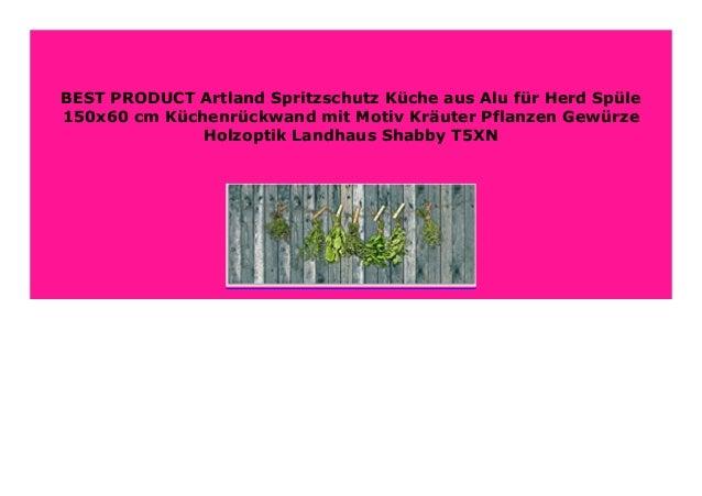 Artland Spritzschutz K/üche aus Alu f/ür Herd Sp/üle 120x65 cm K/üchenr/ückwand mit Motiv Fliesenmuster Abstrakt Landhaus Fliesenoptik Orient Bunt T9OM