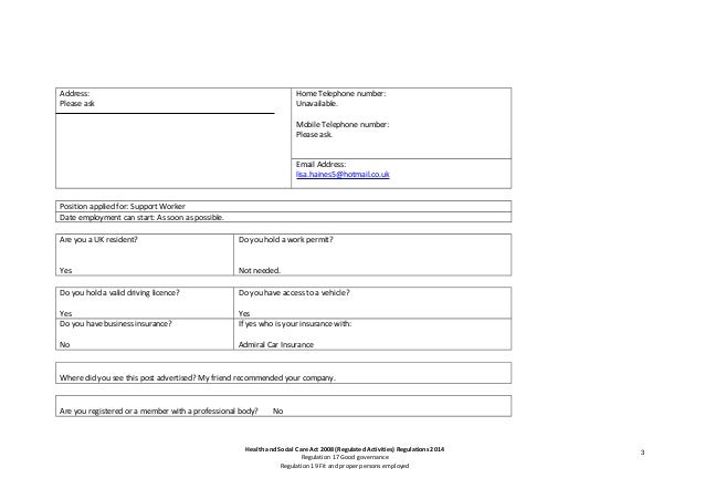 Application form FOR LINK'D IN