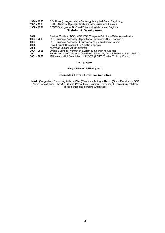 1994 - 1995 BSc Hons (non-graduate) - Sociology & Applied Social Psychology 1991 - 1993 B-TEC National Diploma Certificate...