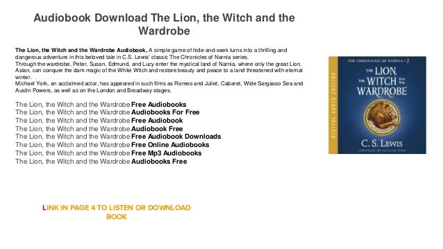 Audiobook Free Online Itunes The Lion The Witch And The