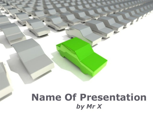 Page 1Name Of Presentationby Mr X