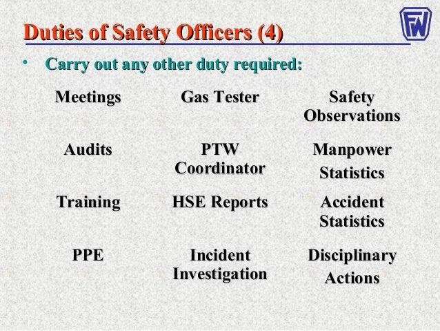 safety officer job description in manufacturing