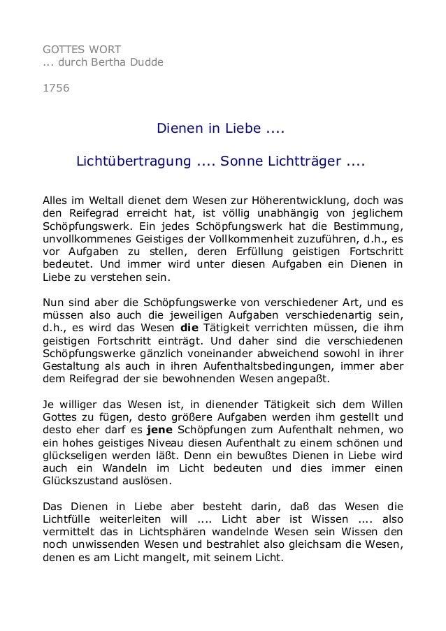 GOTTES WORT ... durch Bertha Dudde 1756 Dienen in Liebe .... Lichtübertragung .... Sonne Lichtträger .... Alles im Weltall...