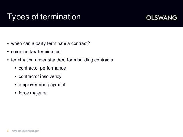 Terminating A Construction Contract Getting It Right