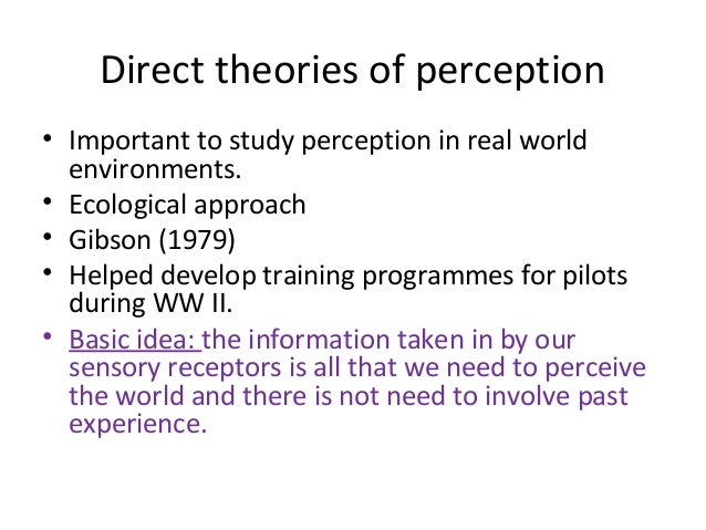 gibson gregory perception Perceptions as hypotheses: saccades as experiments karl friston 1 , rickaadams , laurent perrinet 1,2 and michael breakspear 3 1 thewellcometrust centre for neuroimaging, university college london, london, uk.