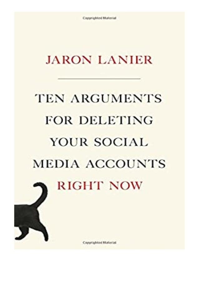 [PDF|BOOK|E-PUB|Mobi] ebook_$ Ten Arguments for Deleting Your Social Media Accounts Right Now review DOWNLOAD EBOOK PDF KI...