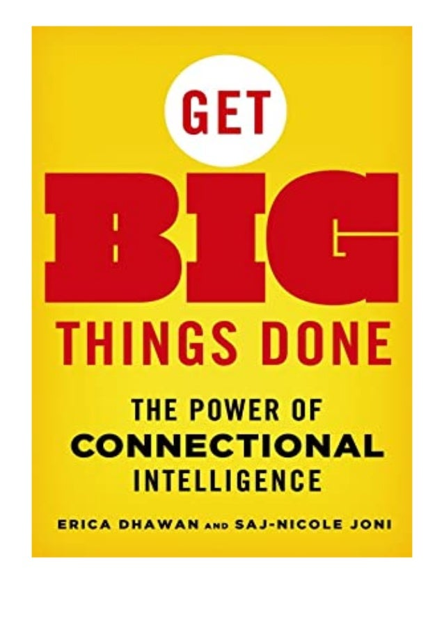 [PDF|BOOK|E-PUB|Mobi] ^^[download p.d.f]^^@@ Get Big Things Done The Power of Connectional Intelligence review DOWNLOAD EB...