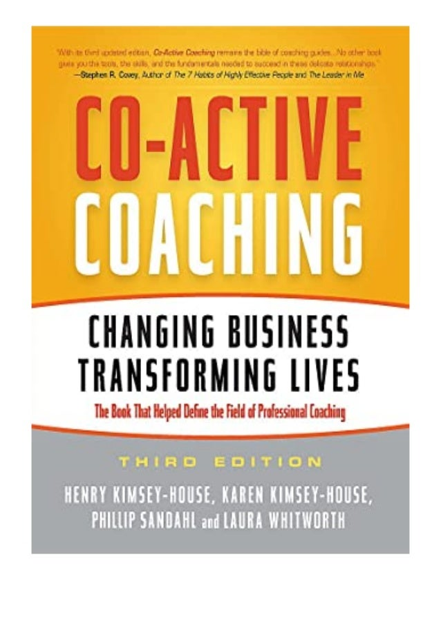 [PDF|BOOK|E-PUB|Mobi] hardcover_$ Co-Active Coaching Changing Business, Transforming Lives review DOWNLOAD EBOOK PDF KINDL...
